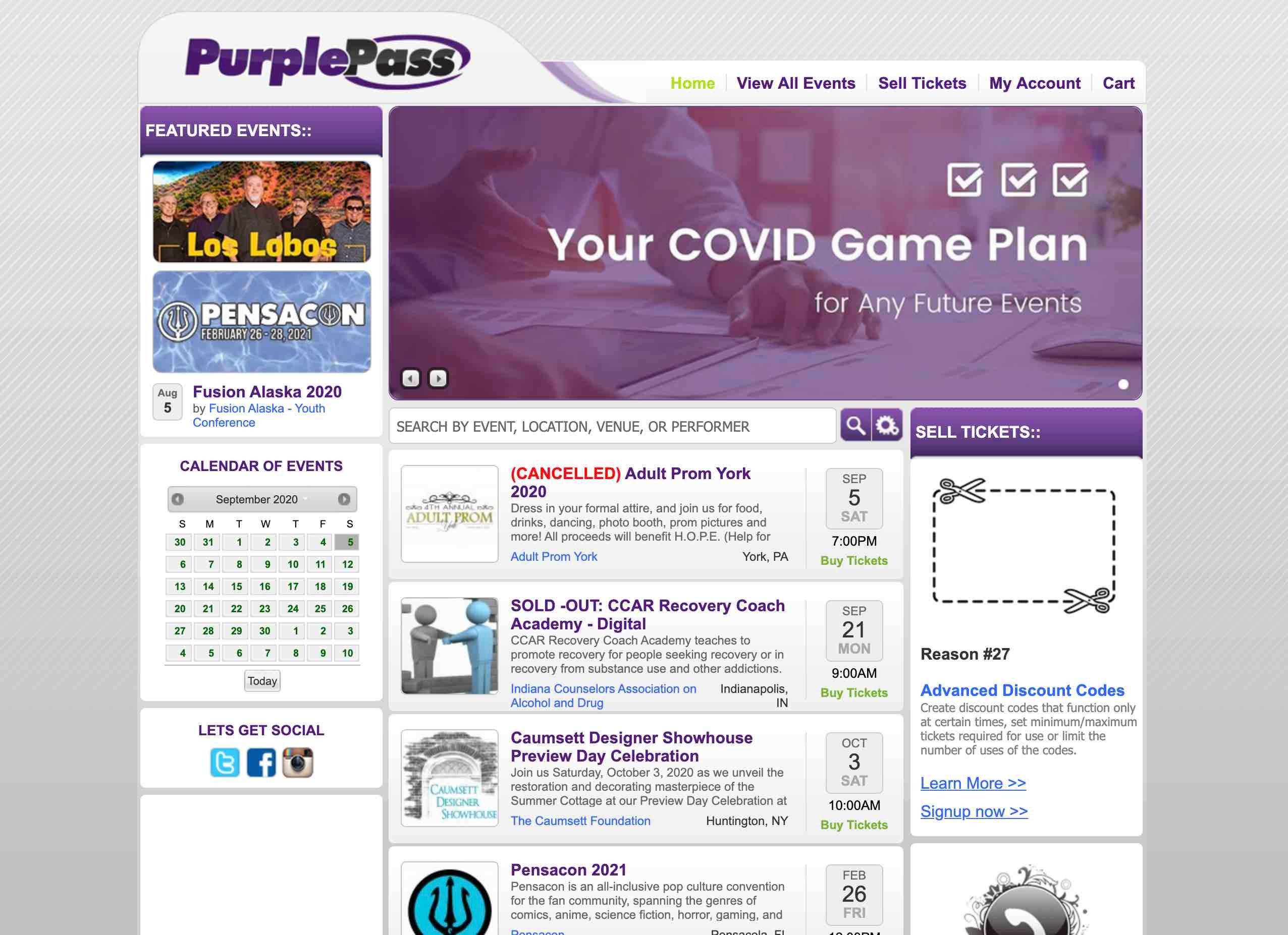 PurplePass Webiste