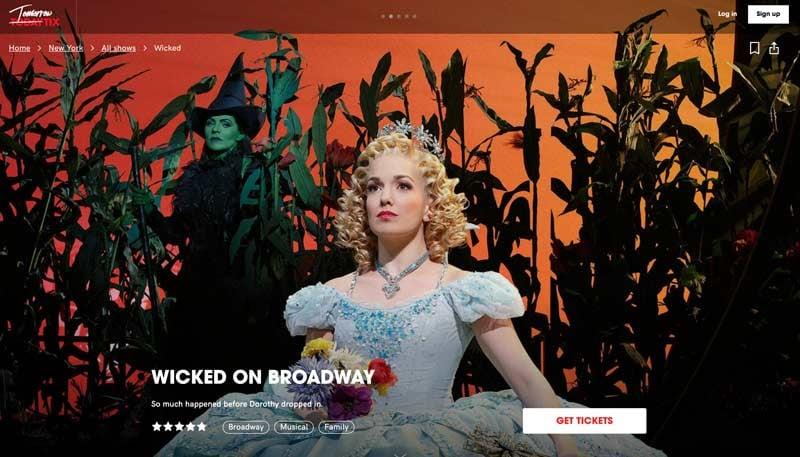 TodayTix Wicked Broadway